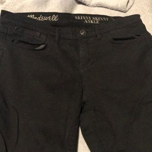 Madewell low rise jeggings.